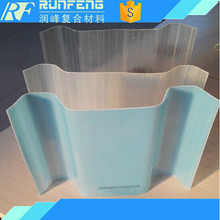2.5mm thickness fiberglass colored plastic roof panel for bus station