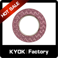 KYOK wrought iron/aluminum metal brass curtain rings for curtain rods,single double rail curtain rods accessories
