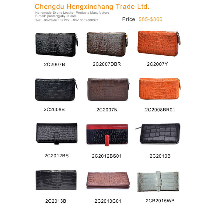 handmade crocodile skin wallet custom wallet china leather wallet manufacturer