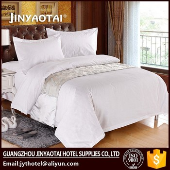 Cotton Hotel Bed Linen Wholesale Feather Woven Bed Sheet In Guangzhou