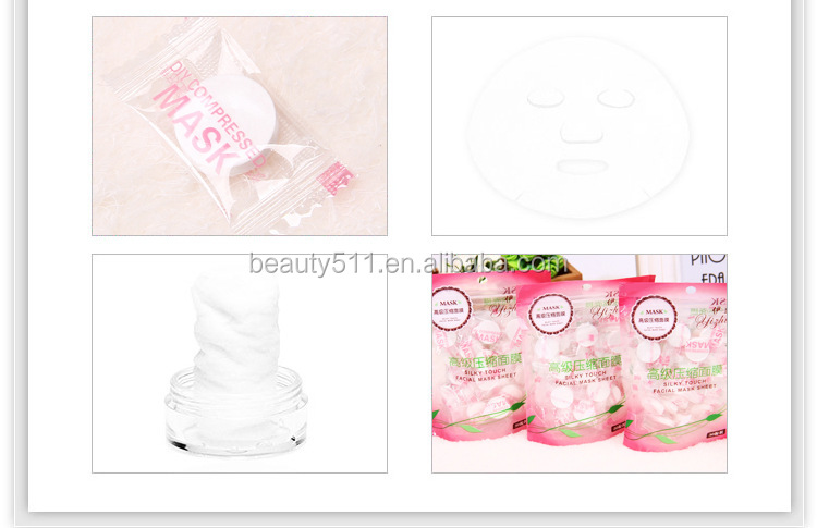 30pc Disposable Candy Moisture replenishment 100%Cotton Compressed mask Mask paper DIY