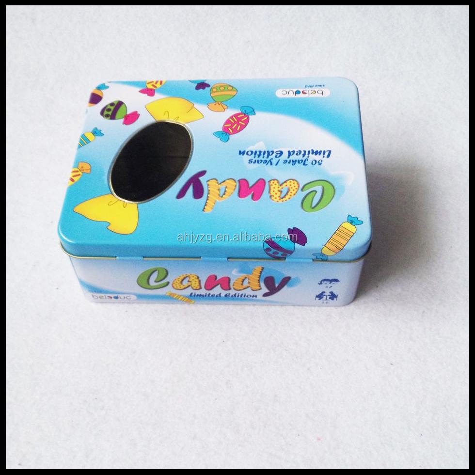 fen tre en plastique rectangulaire menthe bo te de bonbons pour les enfants cadeau caisses d. Black Bedroom Furniture Sets. Home Design Ideas