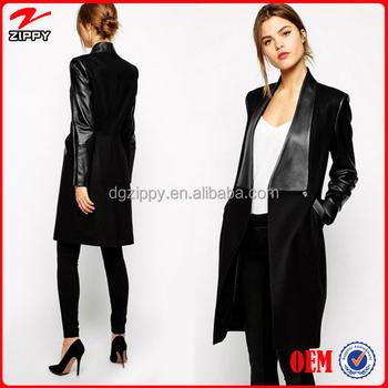 Long Coat Long Winter Coats Women Wear Overcoat Black Faux Fur