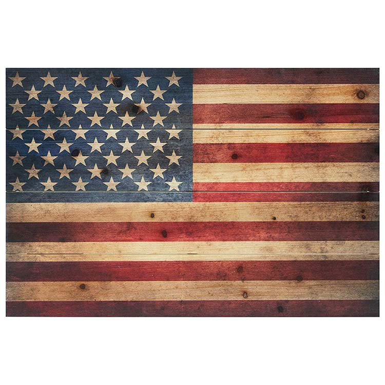 "Empire Art Direct American Flag Digital Print on Solid Wood Wall Art 16"" x 24"" x 1.5"" Ready to Hang"