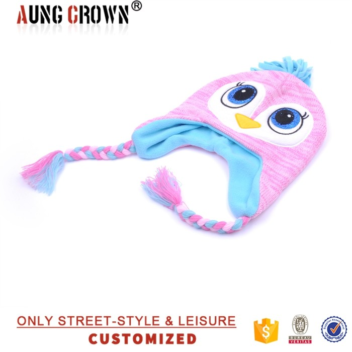 Newest Trendy Fashion Cute Soft Kids Knitted Animal Hats