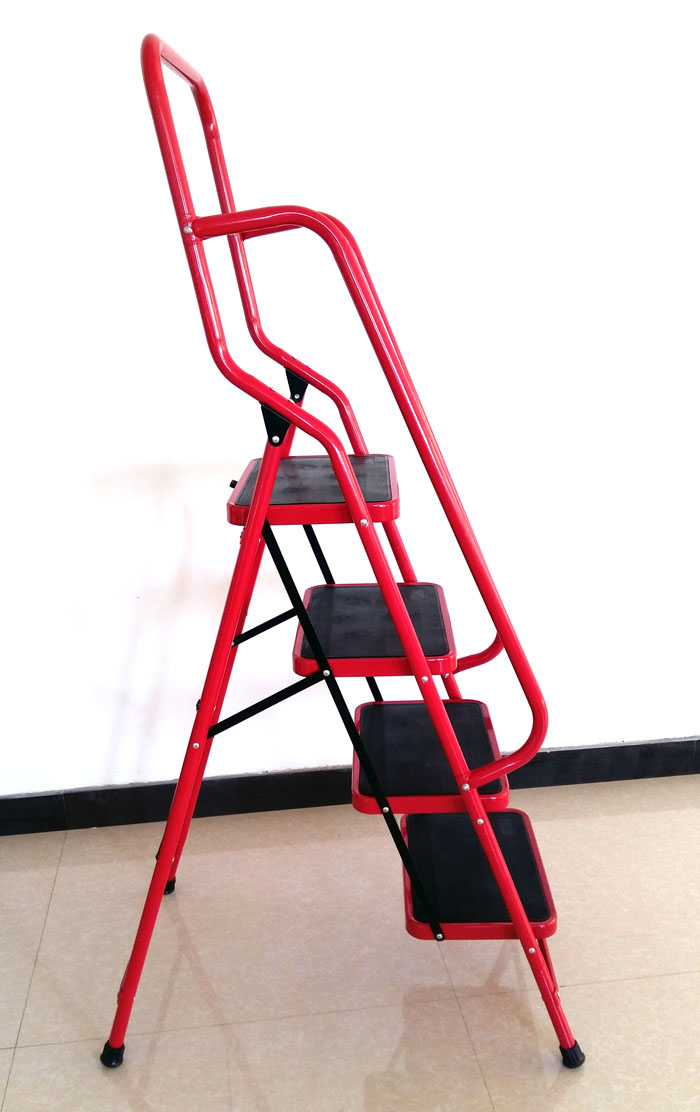 Iron Folding Ladder With Handrail Buy Iron Folding