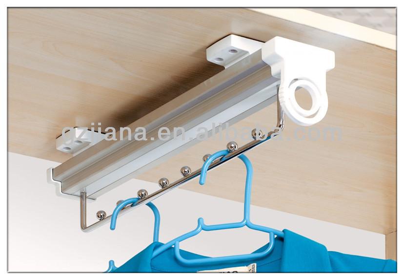 Montaje superior corredera colgador de ropa para closet - Colgador de camisas ...