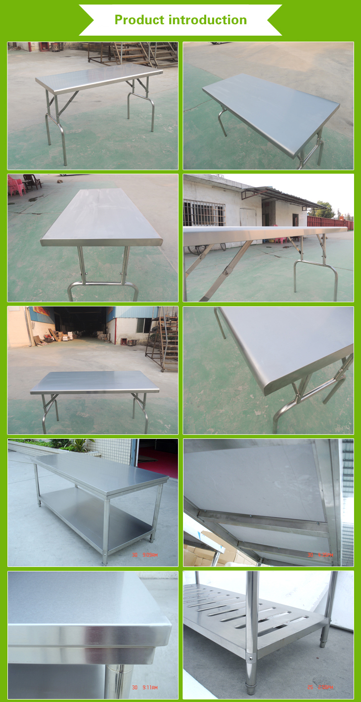 Cosbao names of kitchen equipments restaurant equipment 900 600 view - Stainless Steel Work Table 3 Tier Kitchen Worktable With Under Shelves