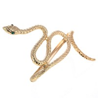 Chunky Statement Snake Jewelry Wholesale Alloy Antique Gold Silver Plated Hand Cuff Wrap Snake Palm Bracelet