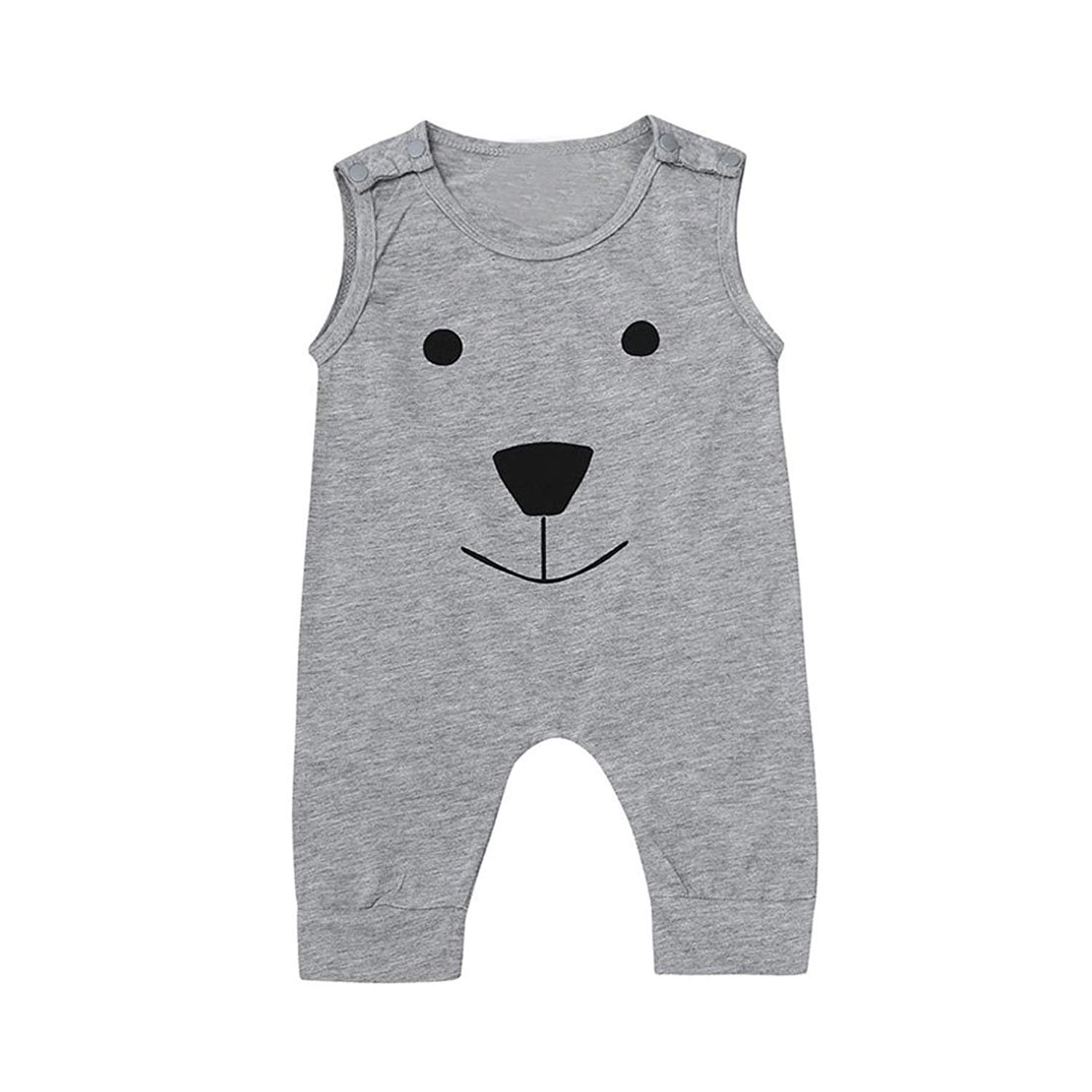 Molyveva Infant Baby Boy Girl Sleeveless Romper Bear Jumpsuit Summer Clothes