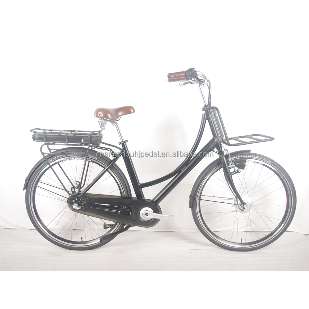 250W Retro style cargo electric bicycle with pedals