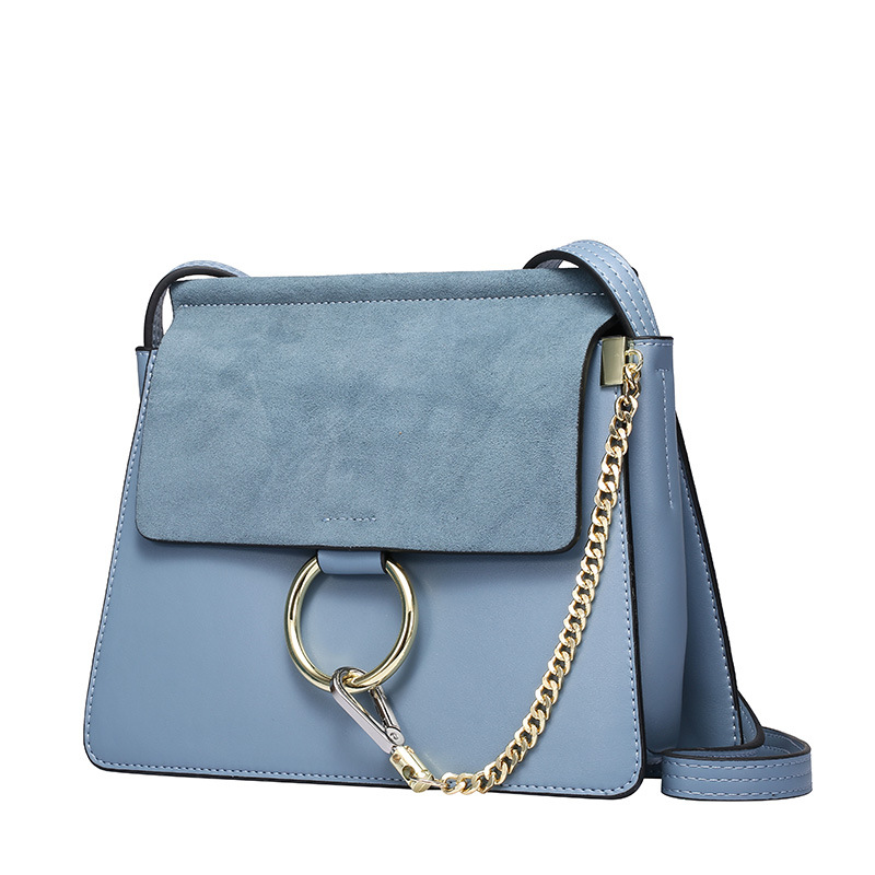 The Best Selling Drop Shipping <strong>Designer</strong> Branded Real Leather with Suede Flap Cross-body Bag Chic Handbag
