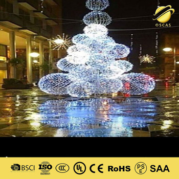 giant outdoor christmas lights led big ball 3d motif light with snowflake for shopping mall