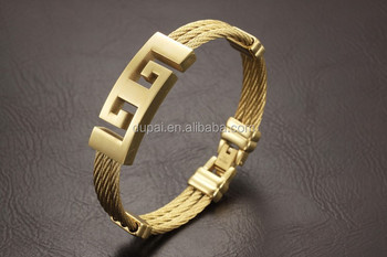 Clical Silver Gold Man Bangles Fashion Stainless Steel Cross Holy Men Jewelry Personality Religious