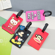 Custom Soft PVC Cartoon Luggage Tag Wholesale Price