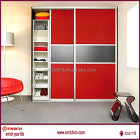 2016 popular style folding simple sliding door wardrobe for small apartment in oversea project