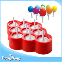 New arrival 9 round hole silicone ice pop mold for children