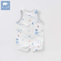 Dave bella newborn romper baby summer jumpsuit infant toddler high quality 100% cotton clothes DBA6426