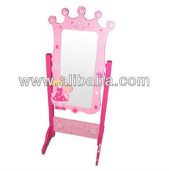 Kids Wooden Floor Standing Mirror - Buy Kids Wooden Floor Standing ...