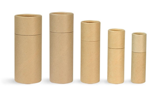 Wholesale Eco Paper Empty Lip Balm Containers With Push Up