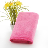 Pink face towel microfiber washcloths face washer towels