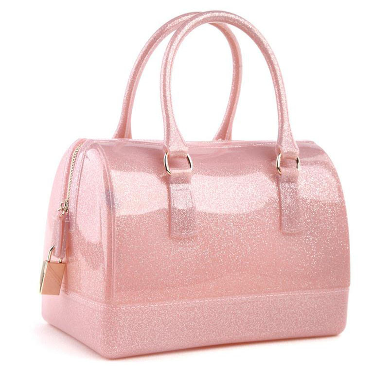 New Fashion Candy Color Transpa Crystal Bag Jelly Tote For Women Spring Summber Handbag Beach Bags In Price On Alibaba