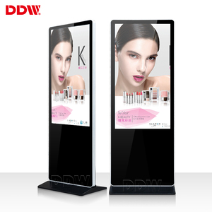 "49"" 55"" 65"" standing digital signage supermarket ultra thin lcd advertising display screen"