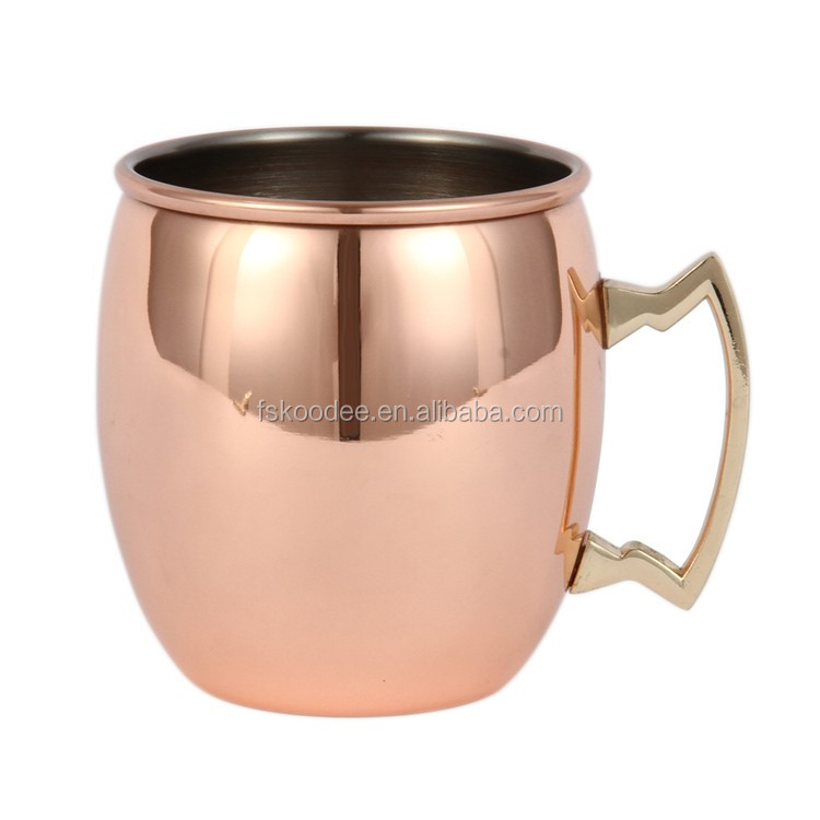 copper cup absolut solid moscow mule copper mugs wholesale stainless steel beer mugs - Moscow Mule Copper Mug