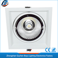 Commercial COB grille light LED aluminum ceiling downlight 10W, 20W, 30W with warm/pure/cool white