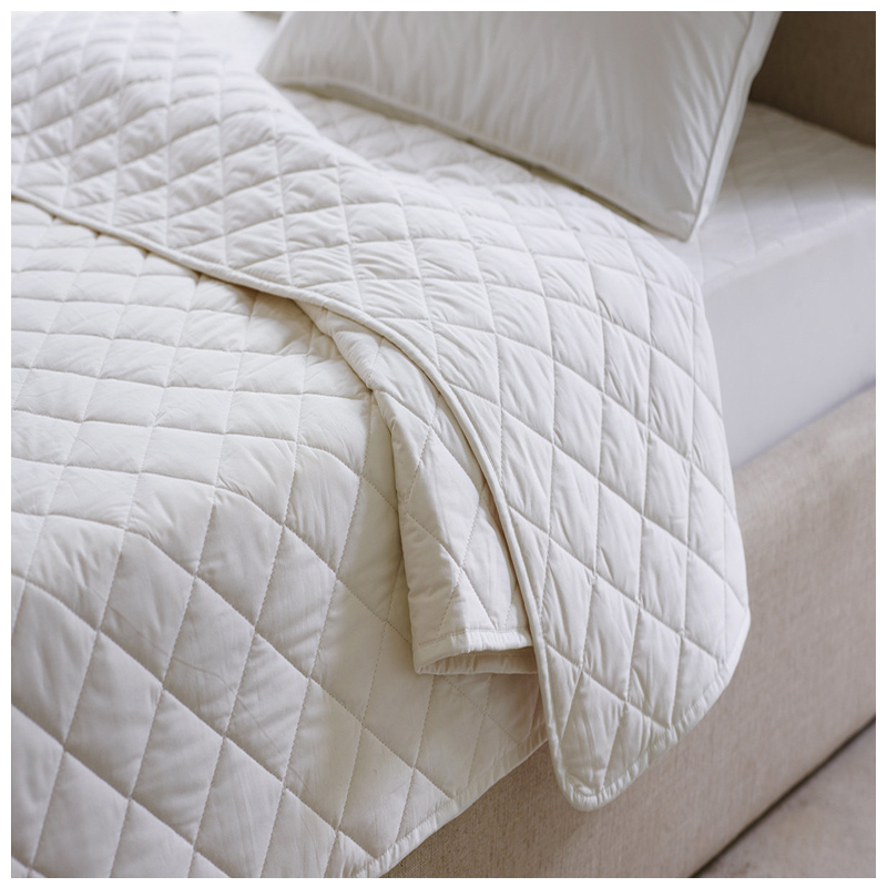 High Quality cotton Cloth Waterproof Fitted microfiber Quilted Mattress Protector