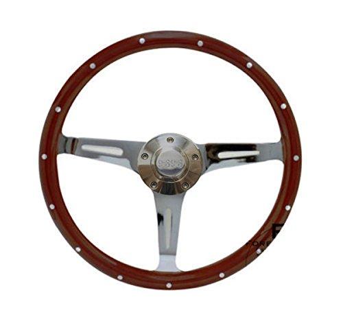 """Chevy Chevelle Camaro Nova Camino 15"""" Steering Wheel Mahogany & Chrome, SS Horn"""