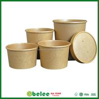 custom printed kraft disposable paper soup bowl