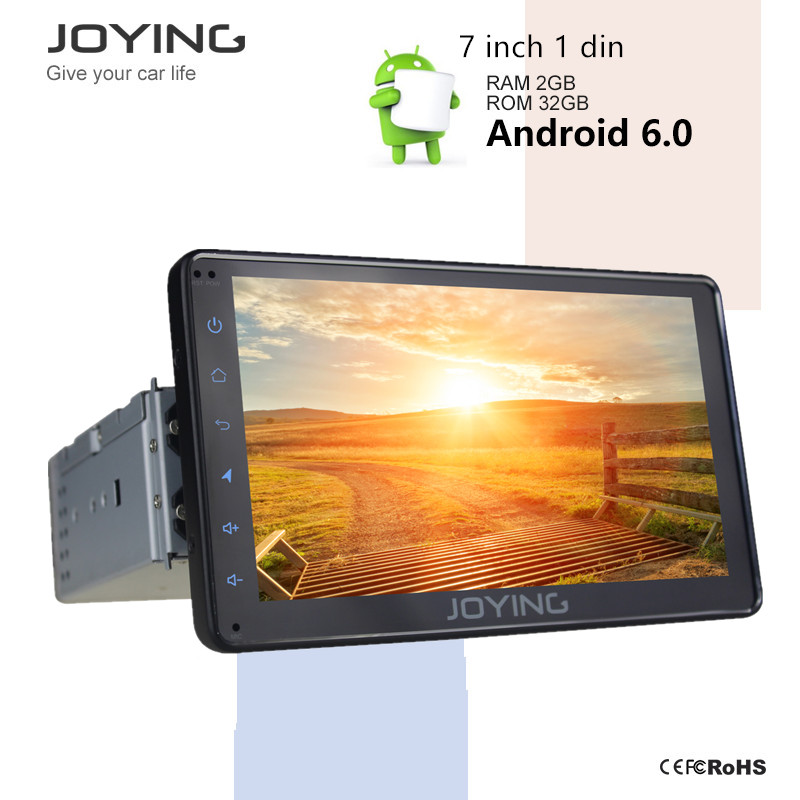 1 Din Obd2 Joying Android Car Usb Quad Core Radio Stereo 7 Inch Audio Alarm System Support Google Play Store Mirror Link Games