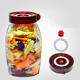 Fermentation lid square potatoes storage jar with decal and pump
