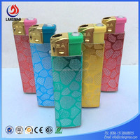 High quality refillable transparent butane gas plastic flint electronic lighter wholesale from china