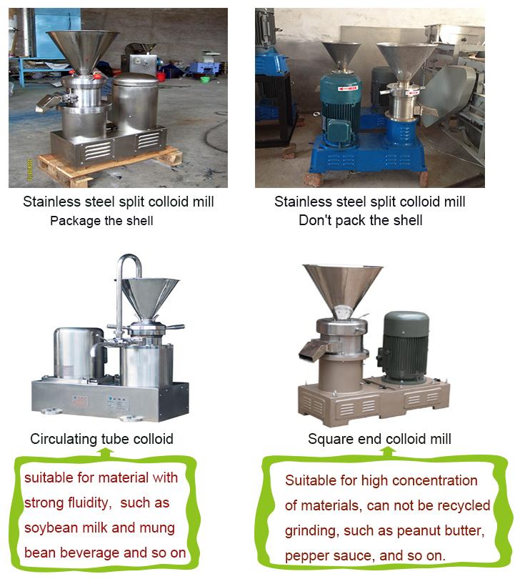 Homogene Kolloidmühle Kakaobutter / Sesambutter / Erdnussbuttermaschine