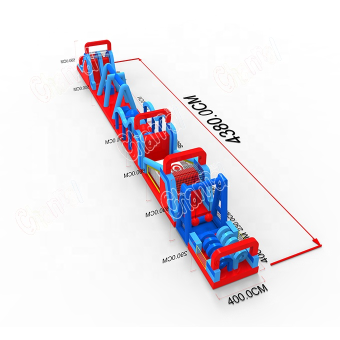 Custom color inflatable obstacle course longest obstacle course inflatable