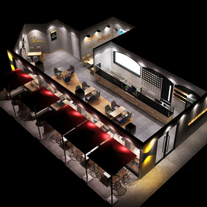 Commercial cafe bar counters coffee shop display furniture for shop interior design