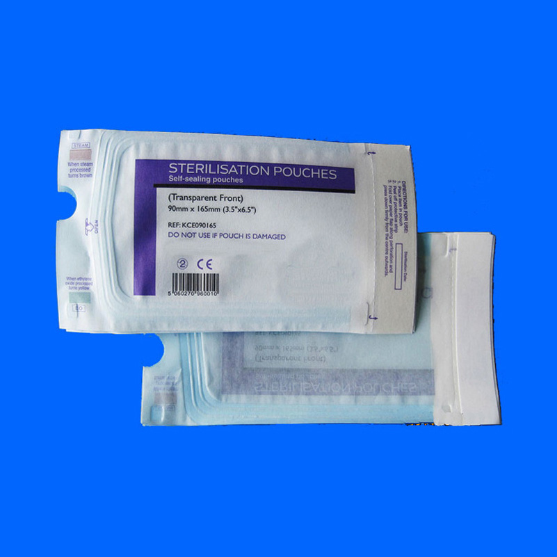 Medical Sterilization Flat Reel Pouch self sealing sterilization perfection sealing pouch