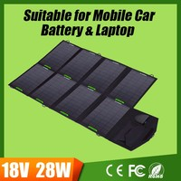 Allpowers 18V 28W Portable Solar Phone Charger for Iphone samsung Solar Laptop Charger for macbook lenovo hp acer etc.