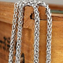 "New Stainless Steel Men/Women Rope Necklace Chain 24""Link Fashion Gift Wholesale"
