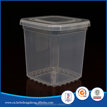 5 Gallon 20l Square Buckets Clear Plastic Pail Buckets