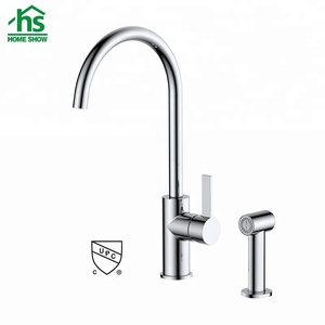 Durable brass single handle cupc kitchen faucet with hand spray,european kitchen faucet