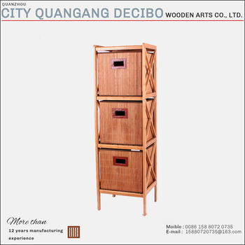 2017 Wholesale Portable Clothes Bedroom Home Bamboo Wooden Storage