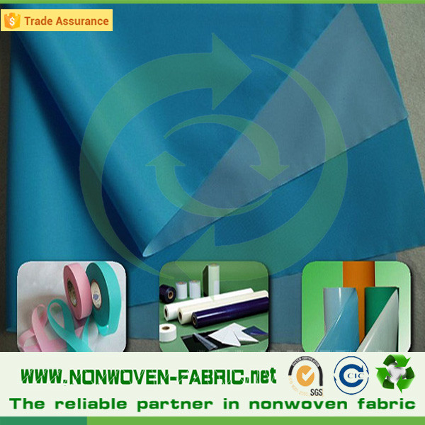 High pressure laminated waterproof breathable polypropylene fabric laminated non woven