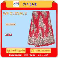 j474-5 multi color african embroidered tulle lace fabric french net lace