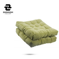 Solid Seat Cushion Square Chair Pad Home Floor Cushion 22 Inch Set of 2 Throw Pillows Indoor And Outdoor Green