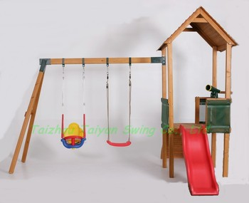 Schommel In Huis : 2014 nieuwe outdoor houten schommel met glijbaan huis c buy