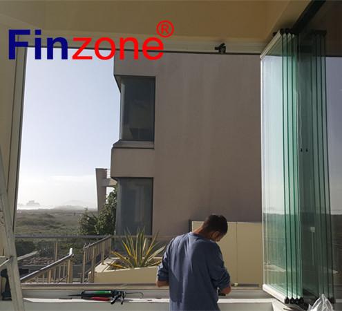 popular frameless balcony glazing folding glass window with good quality