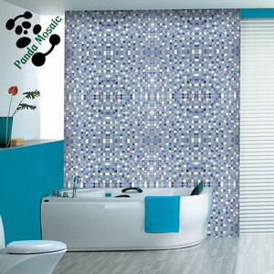 SMS01 Mediterranean mosaic sea style frosted and ice crack glass mosaic tile bathroom kitchen mosaic